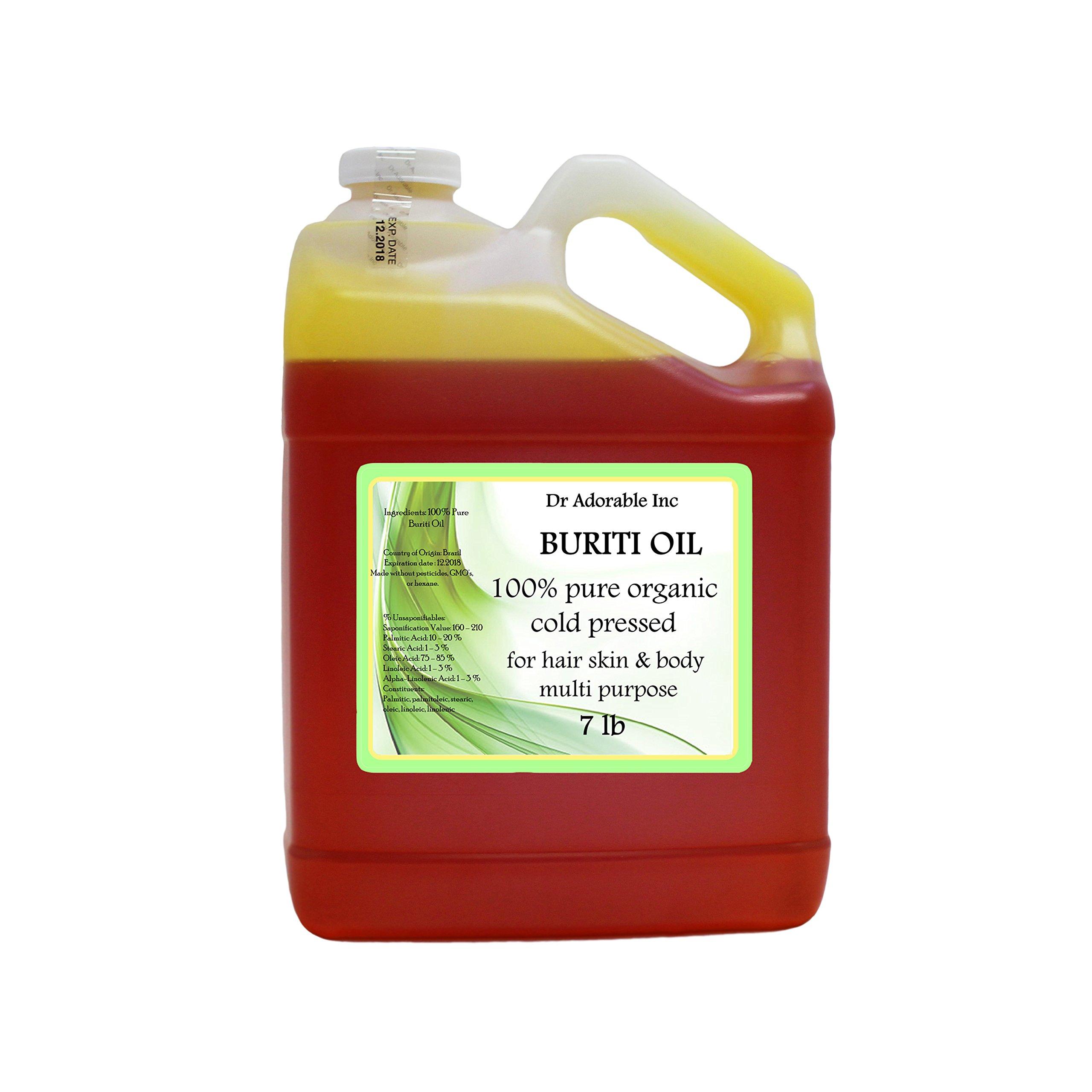 Pure Buriti/fruit Exotic Oil Cold Pressed Organic Passionfruit 128fl.oz/1 Gallon/7 Lb
