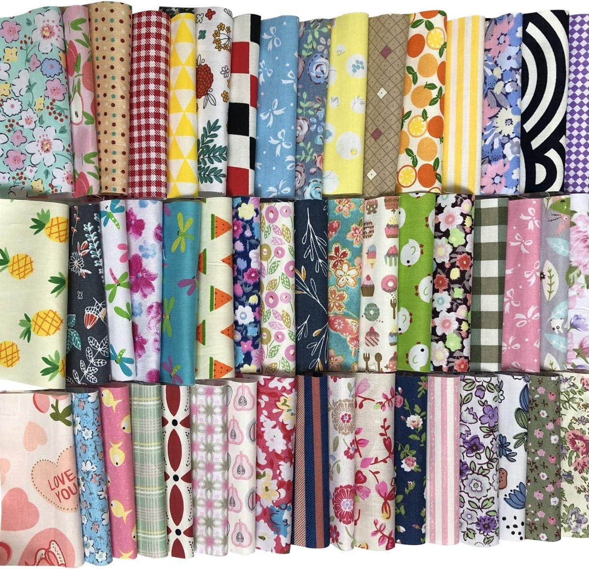 Misscrafts Cotton Fabric Squares Precut Quilting Charm Pack