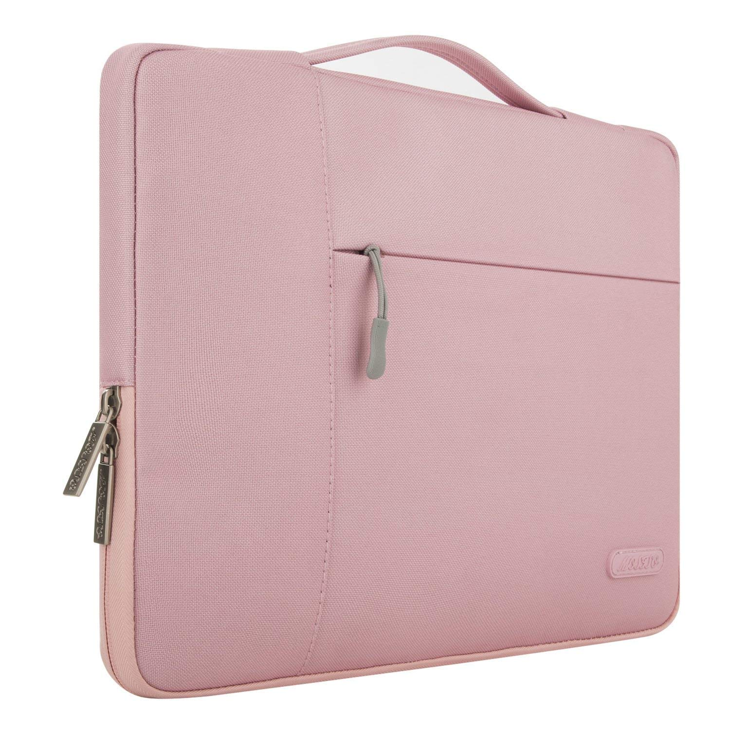 MOSISO iPad Air 3 10.5 2019 Tablet Sleeve Case, Compatible 9.7-11 Inch iPad Pro, iPad Pro 10.5, Surface Go 2018, iPad Air 2/Air (iPad 6/5), iPad 1/2/3/4 Polyester Multifunctional Carrying Bag, Pink by MOSISO