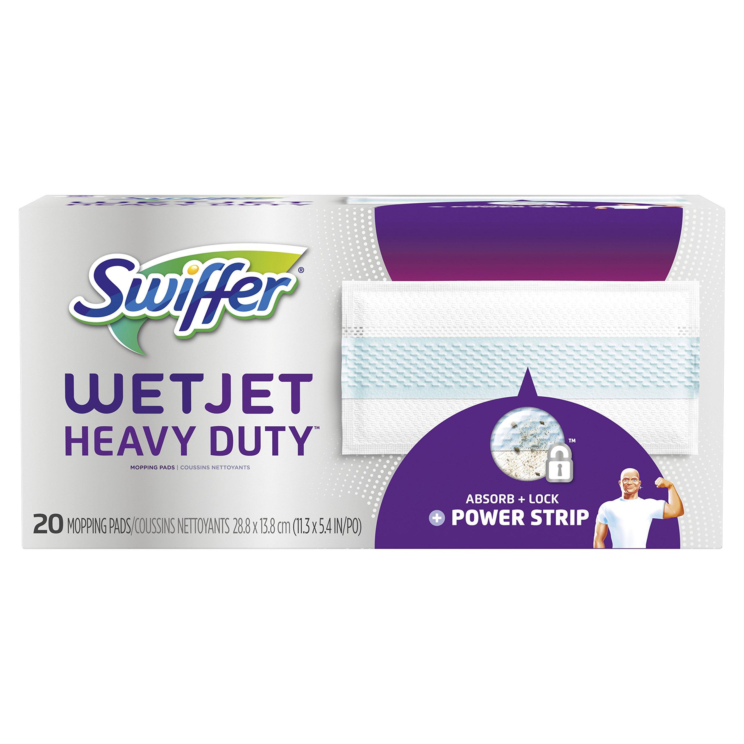Swiffer WetJet Heavy Duty Mopping Pad Refill, 20 Count