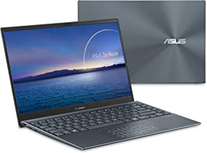 "ASUS ZenBook 13 Ultra-Slim Laptop 13.3"" FHD NanoEdge Bezel Display, Intel Core i5-1035G1, 8GB LPDDR4X RAM, 256GB PCIe SSD, NumberPad, Thunderbolt, Wi-Fi 6, Windows 10 Pro, Pine Grey, UX325JA-XB51"