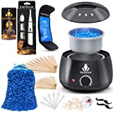 Emprian Waxing kit Wax Warmer-200gr Blue Wax BEADS-Hair Removal Wax Pot for Women and Men-Painless Waxing for Full Body…