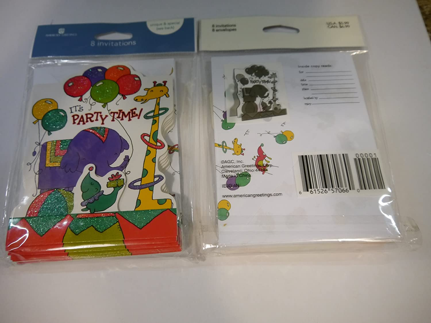 Amazon Its Party Time 8 Invitations And Envelopes