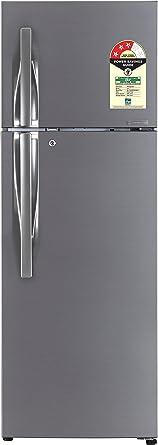 LG 284 L 3 Star Frost Free Double Door Refrigerator(GL-T302RDSU.ADSZEBN, Dazzle Steel, Inverter Compressor)