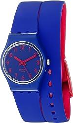 Swatch Womens LS115 Biko Bloo Analog Display Quartz Blue Watch