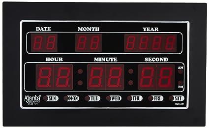 Buy Ajanta Quartz Digital LED Plastic Wall Clock (34 cm x 20 cm x 4 ... 04f796f4b3