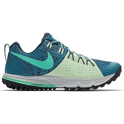 Amazon.com | Nike Womens Air Zoom Wildhorse 4 Running Shoe 880566-007 Black/ Volt | Trail Running