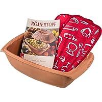"""Römertopf 221205 Kit de démarrage """"Swing"""" pour 4 personnes avec 2 maniques + livre de cuisine 450 recettes"""