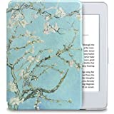 WALNEW Kindle Paperwhite Case, Ultra Light&Thinnest Premium Slim Cover for Amazon Kindle Paperwhite(Fit All 2012,2013,2015 and 2016Versions) with Magnetic Auto Sleep Wake Function, Tree and Flower