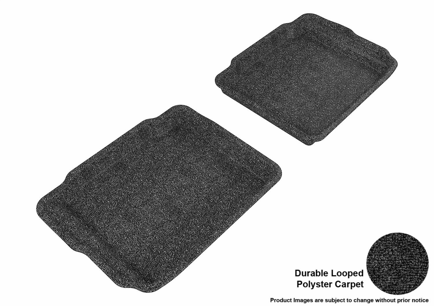 Classic Carpet 3D MAXpider Front Row Custom Fit Floor Mat for Select Ford Taurus Models Tan L1FR01812202