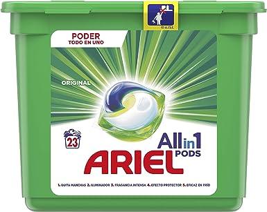 Ariel Todo en Uno Pods, Regular Detergente en Cápsulas 23 Lavados ...