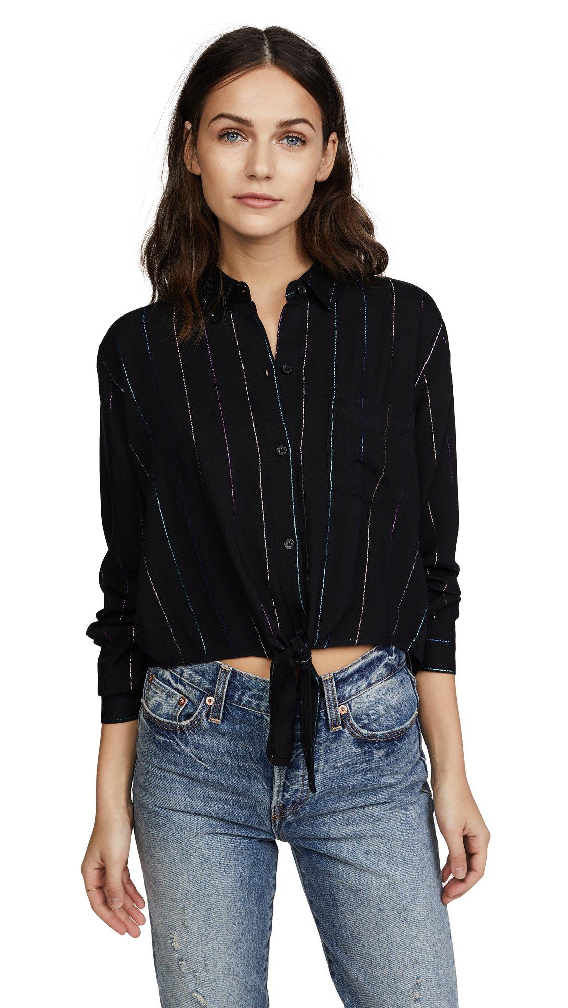 Rails Women's Val Shirt, Bondi Stripe, Small by Rails