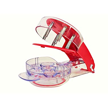 YouTensils Cherry Pitter Stoner & Olive Tool - 6 Cherries at Once | Includes Cherry Recipe EBOOK