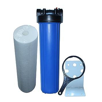 """Wasserfilter 20/"""" mit 3//4/"""" IG Filtereinheit Filtergehäuse Filtertasse"""