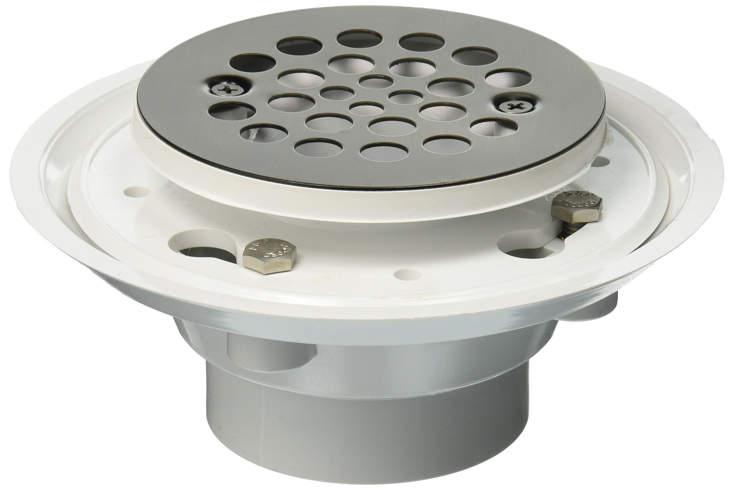 Jaclo 86563-PEW Complete Round Shower Drain for 2'' or 3'' PVC, Pewter