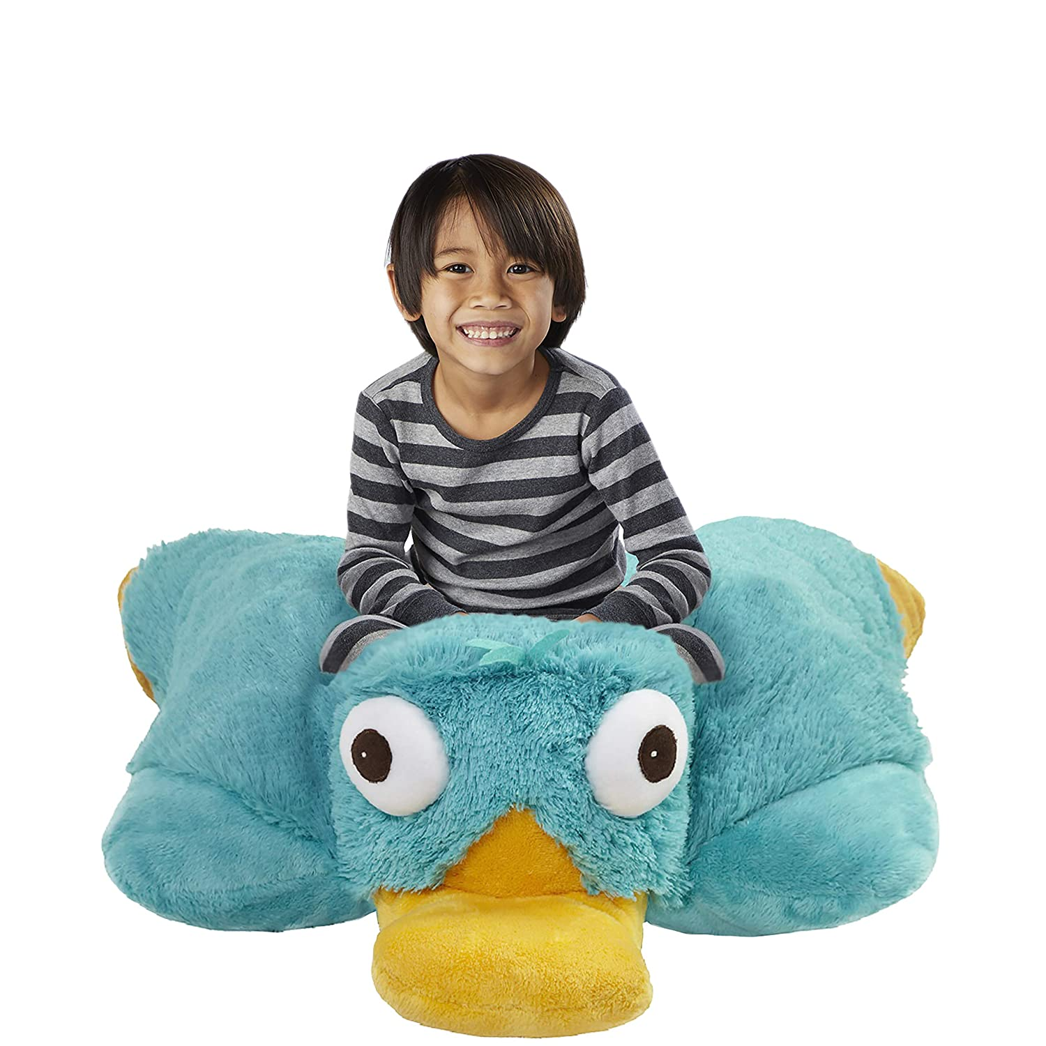 Pillow Pets Jumboz Phineas And Ferb Perry The Platypus 30 Jumbo Folding Plush Pillow Amazon In Home Kitchen