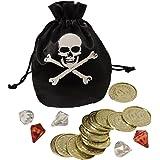 Piratenschatz (Beutel, Münzen, Schmucksteine)