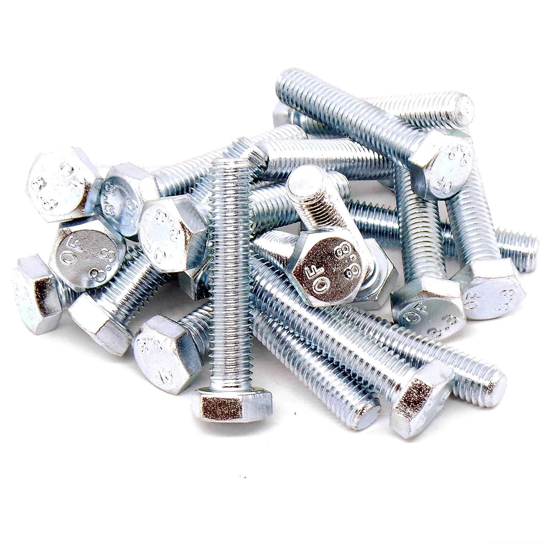 M8 x 35 mm Set Viti Esagonali DIN 933 bulloni filettati completamente in acciaio inox A2 8 mm