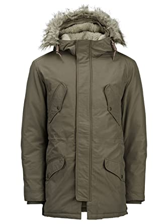 JACK JONES HERREN JACKE ARCTIC PARKA 12107909 xl grün  Amazon.de ... dba4ef1c88