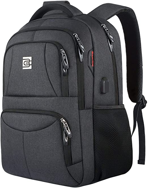 Durable Anti Theft Business Travel Laptops Backpack with USB Charging Port