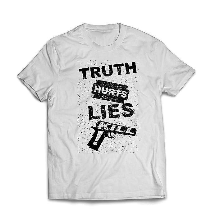 lepni.me Camisetas Hombre La Verdad Duele la Mentira Mata! Estilo Callejero: Amazon.es: Ropa y accesorios