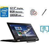 "Lenovo Thinkpad Yoga 260 2-in-1 Business Laptop - 12.5"" IPS Touchscreen (1366x768), Intel Core i5-6200U, 180GB SSD Opal2, 8GB DDR4, Backlit Keyboard, Windows 10 Professional 64-bit - Black"