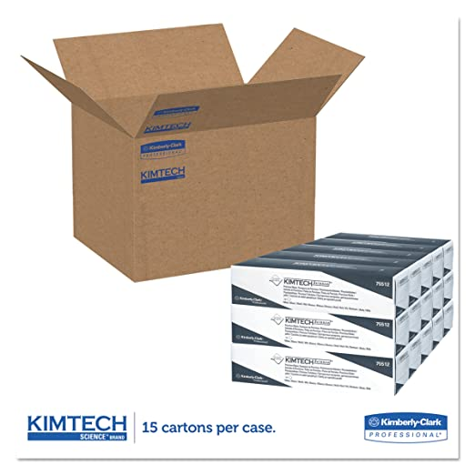 KIMTECH SCIENCE* PRECISION WIPES 15 dispenser boxes x 196 white 1 ply sheets = 2940 sheets