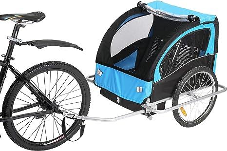 Fiximaster BT-502 - Remolque de bicicleta para 2 niños pequeños ...