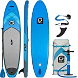 "GILI 10'6 Inflatable Stand Up Paddle Board Package (10'6 Long 31"" Wide 6"" Thick): Includes Paddle, Backpack, SUP Coiled Leash & Pump"
