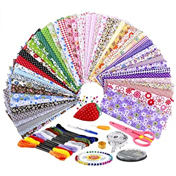 Biging - Juego de 50 piezas de tela de algodón para ...