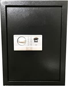 Digital Electronic Flat Recessed Wall Hidden Safe Security Box Jewelry Gun Cash (Biometric Fingerprint Black)