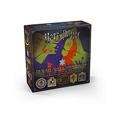 The Noble Collection Harry Potter Diagon Alley Shop Signs Puzzle: Toys & Games