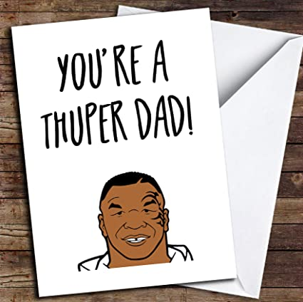 Divertida tarjeta para el día del padre con texto en inglés Joke ...