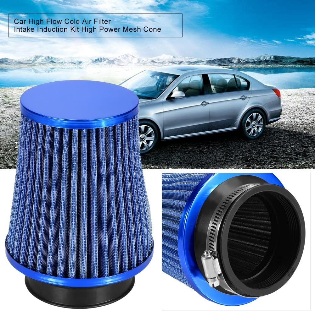 RED EASY FIT UNIVERSAL PERFORMANCE CAR AIR FILTER HIGH FLOW INDUCTION INTAKE