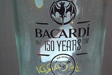 Ron de Bacardi 150 años de flores de cristal 10 oz: Amazon.es ...