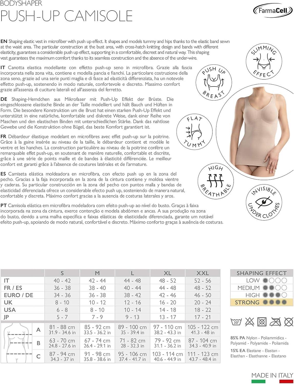 Farmacell Shape 607 Canotta Microfibra Contenitiva Modellante Push-up Seno