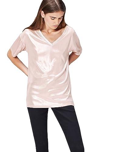FIND Maxi T-Shirt Donna Metallizzata