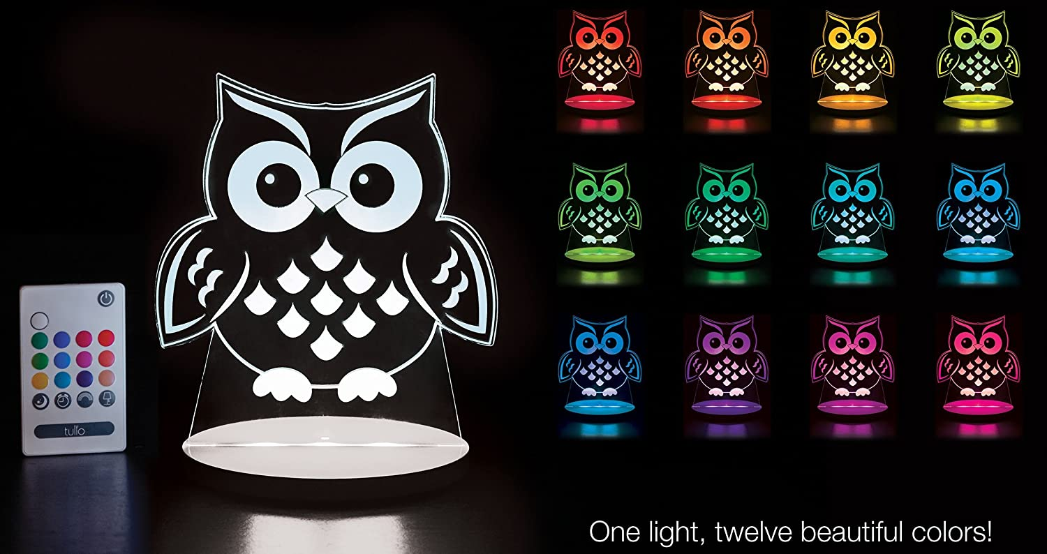 Color Change Soft Glow Kids Safe No Chord FREE DELIVERY NIGHT OWL NIGHT LIGHT