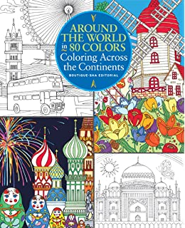 Around The World In 80 Colors Coloring Across Continents