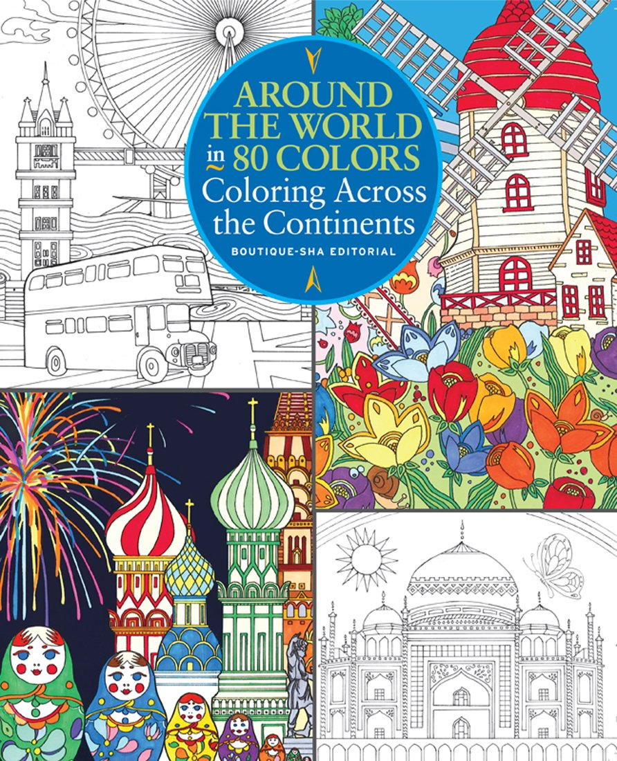 Amazon.com: Around the World in 80 Colors: Coloring Across the ...