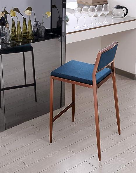 Amazon Com Whiteline Modern Living Clifton Bar Stool Teal Furniture Decor