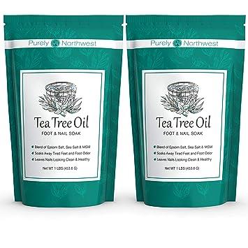 Aceite De árbol De Té Remojo Para Pies Con Sal De Epsom Fabricado En Estados Unidos Alivia Los Hongos De Las Uñas Los Pies De Atleta Y Los Olores De Los