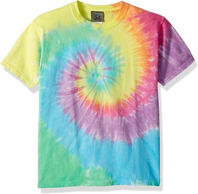 1980s Clothing, Fashion | 80s Style Clothes Liquid Blue Kids Pastel Spiral Short Sleeve T-Shirt $16.95 AT vintagedancer.com