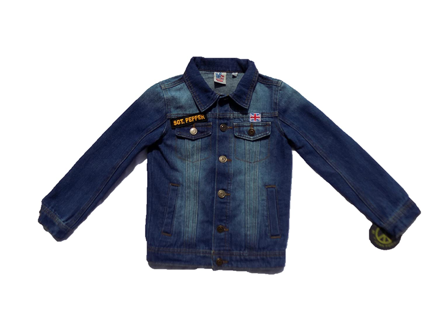 The Beatles SGT. Pepper Boys' Navy Denim Jacket