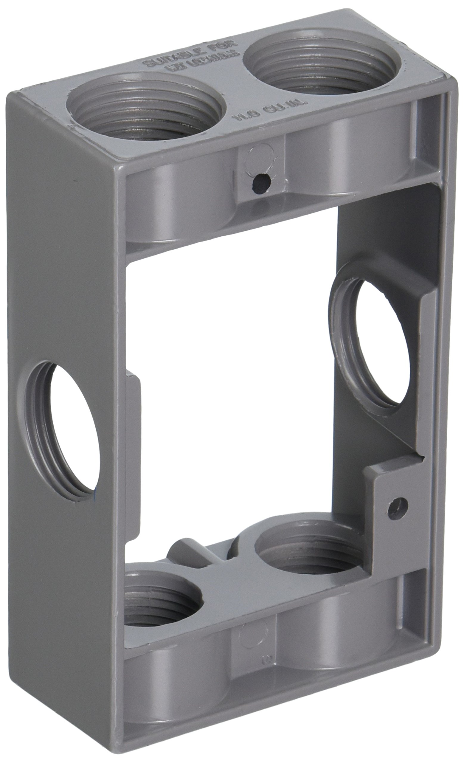 Hubbell-Bell 5405-0 Weatherproof Box Extension Adapter, 5-1/4-Inch X 3-1/2-Inch