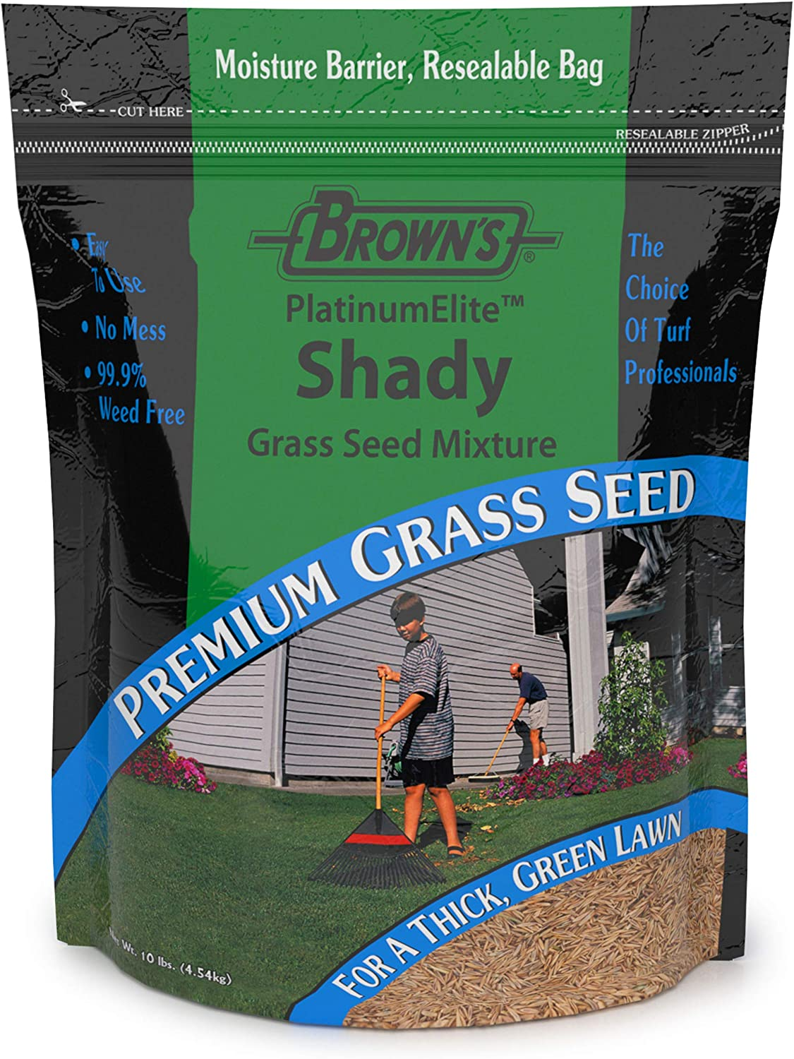 F.M. Brown's Platinum Elite Shady Grass Seed Mixture