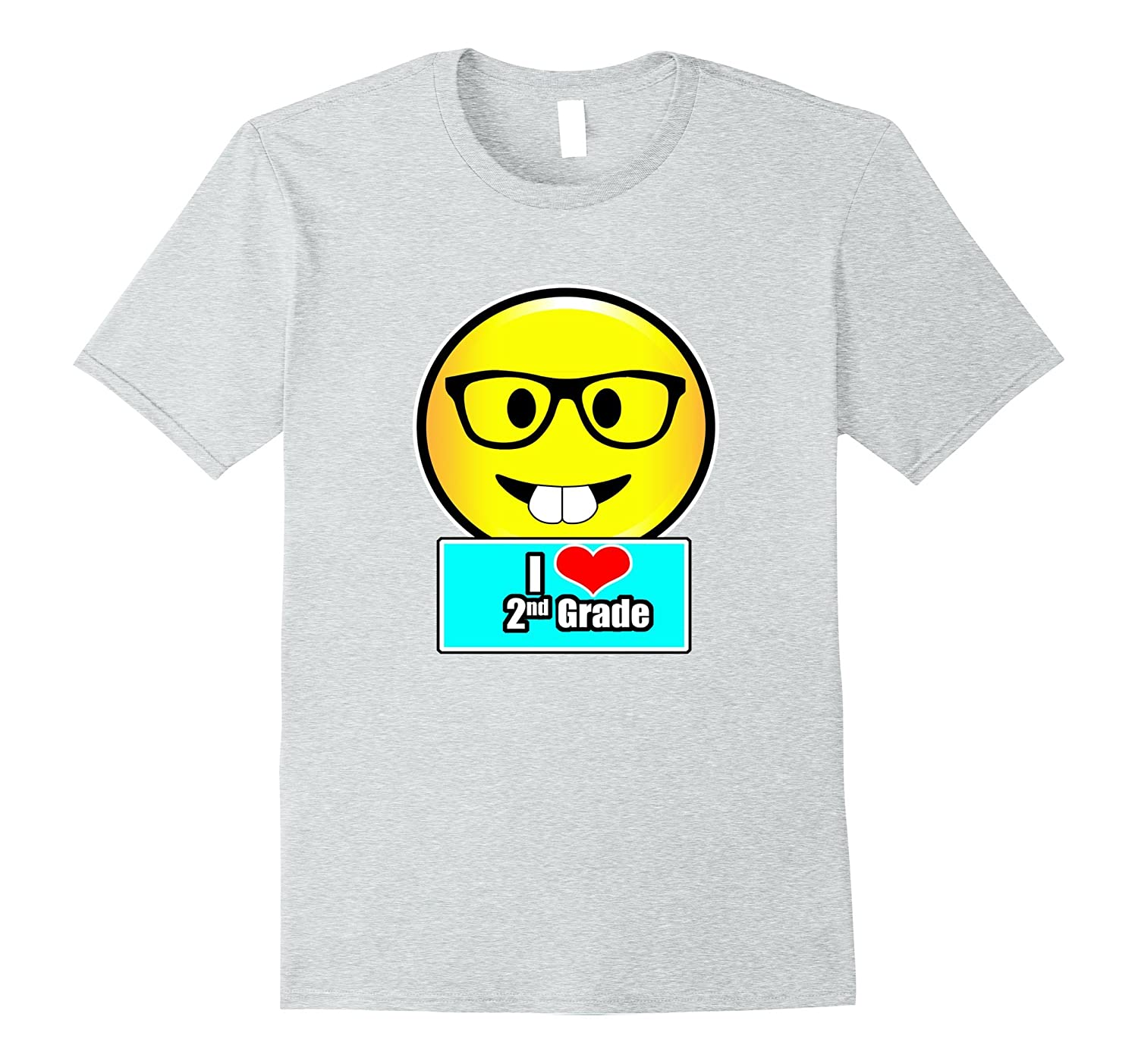 452e677f I Love 2nd Grade Emoji Kids or Teacher In Second Grade Shirt-PL ...
