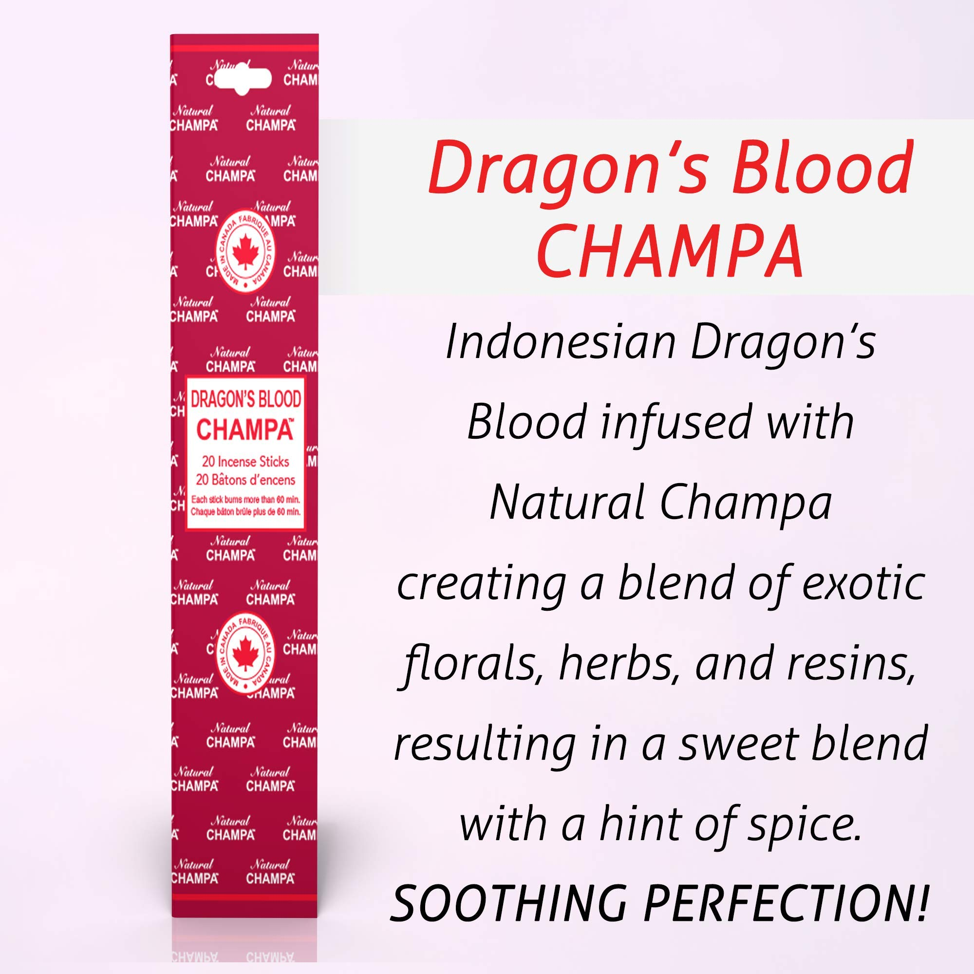 Natural Champa Incense Set - Classic Blended Collection of 140 Sticks with Free Incense Burner - Lasts 60+Minutes by Natural Champa (Image #4)