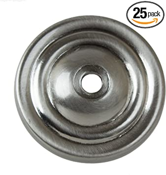Gliderite Hardware 5061 Sn 25 1 5 Inch Thin Rounded Ring Cabinet Back Plate 25 Pack Satin Nickel Finish 25 Count