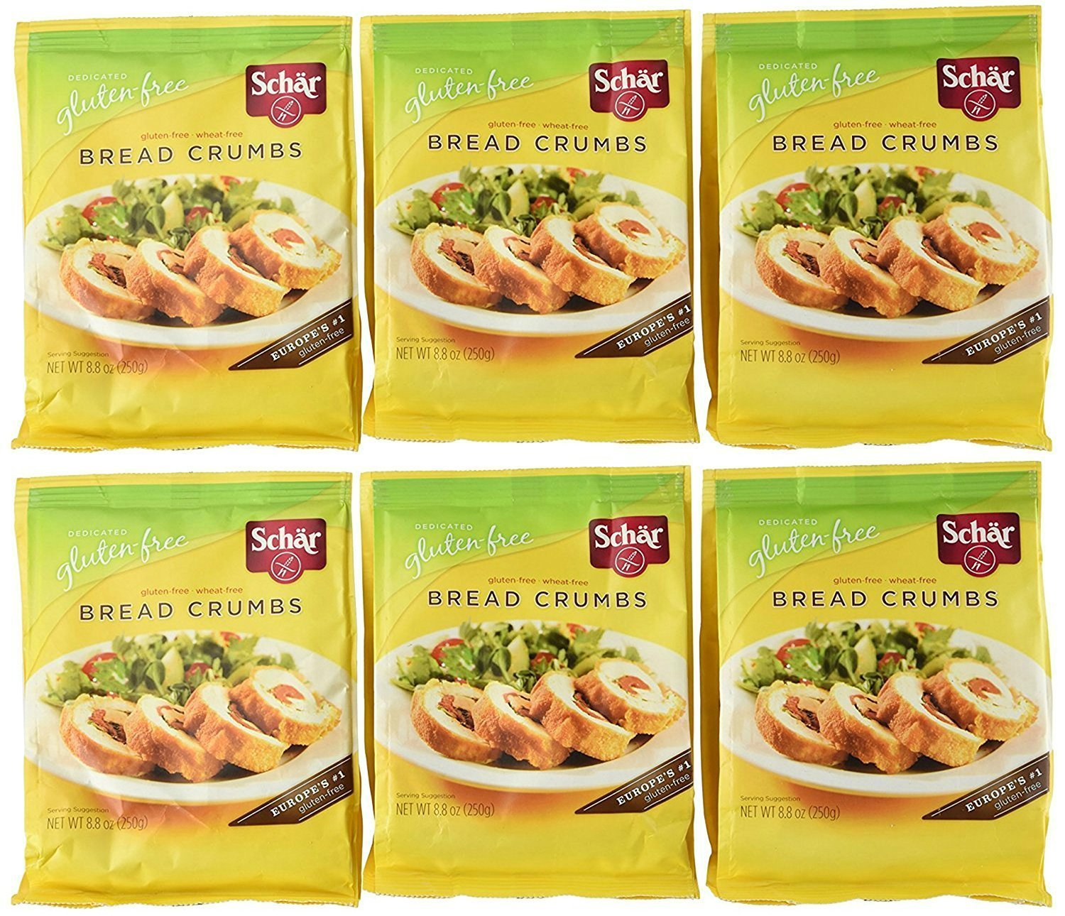 Schar Gluten Free Bread Crumbs, 8.8-Ounce Bags (Pack of 6)